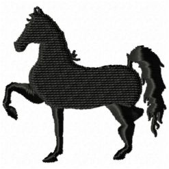 black horse design for embroidery machine