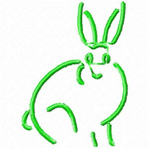 Rabbit embroidery design