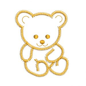 Teddy Bear embroidery design - free download