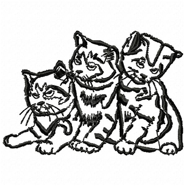 Baby Cat Free Embroidery Designs