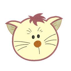 Cat Head Applique