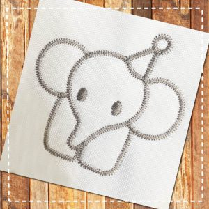▷ Baby Elephant | »»» Free Embroidery Designs «««