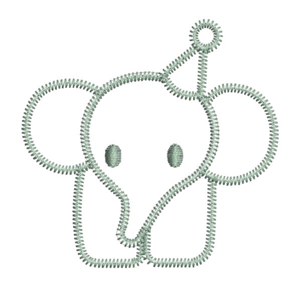 Baby Elephant - BABIES & CHILDREN -Download free embroidery design,