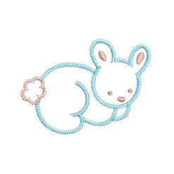 rabbit embroidery design - Download free