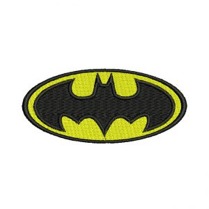 Batman Shield embroidery design