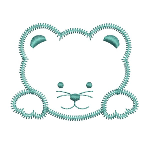 bear embroidery design - free download