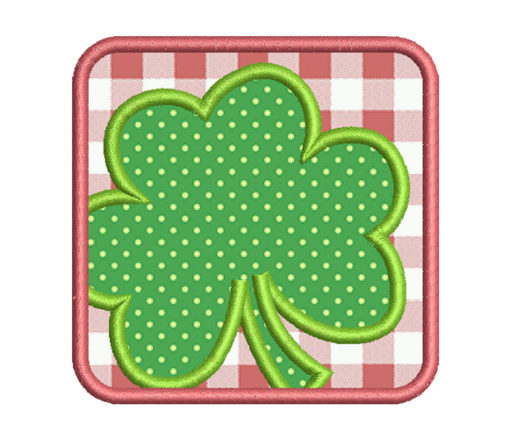 path clover embroidery design