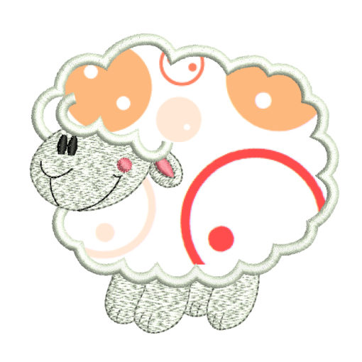 sheep embroidery design - applique