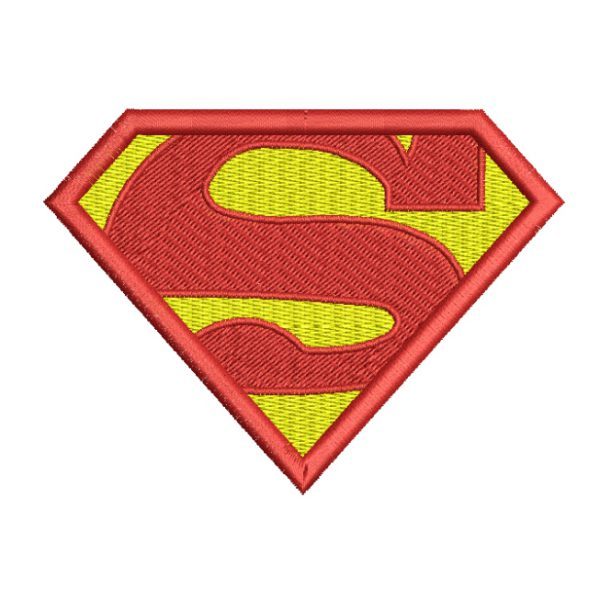Superman shield embroidery design - cattoons