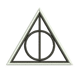 Harry Potter Deathly Hallows Sign embroidery design
