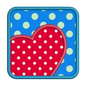 Square Heart Embroidery design