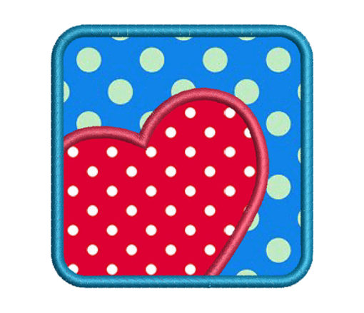 Square Heart Embroidery design