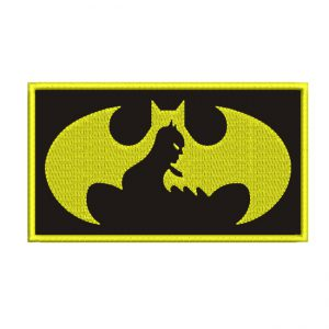 batman emblemed embroidery design