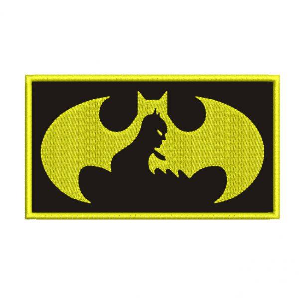 batman emblemed embroidery design
