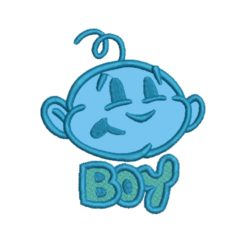 boy applique embroidery design