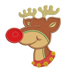 christmas Rudolph applique