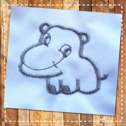 Baby Hippo free embroidery design