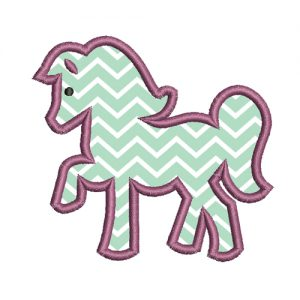 Horse Applique Embroidery Simple