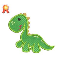 dino applique emboridery design