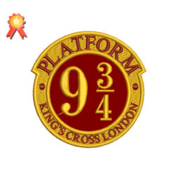 Patform 9 embroidery design - harry potter