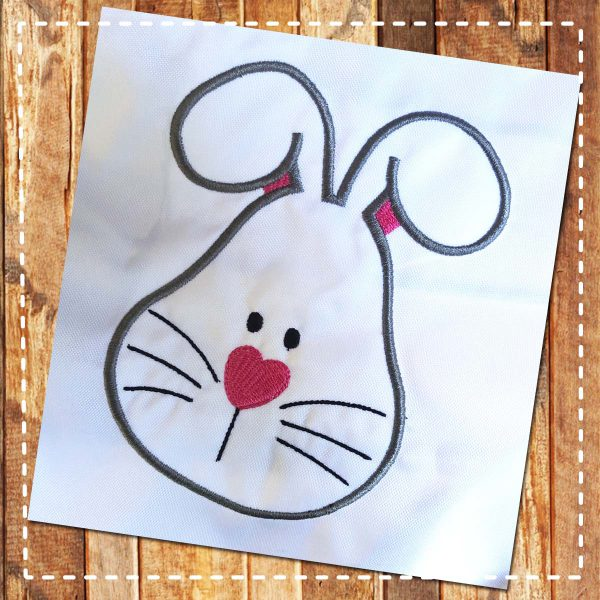 rabbit applique embroidery design