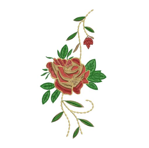 Red Roses Embroidery Design