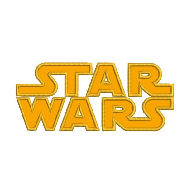 Star Wars Applique Embroidery Design