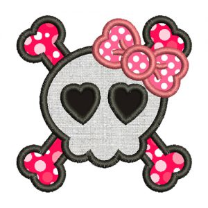 Halloween Skull Applique Embroidery Design