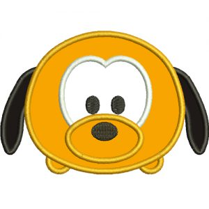 Mini Pluto Applique Embroidery Design
