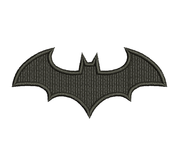 batman simple emblemed embroidery design