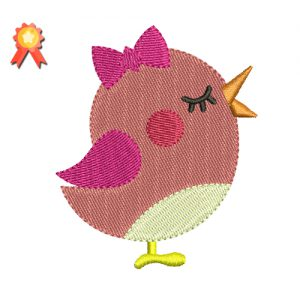 girl bird free embroidery design