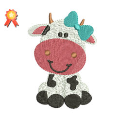 Girl Cow Free Embroidery Design