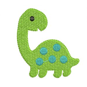 dino embroidery design