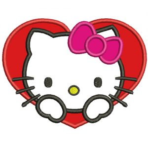 Hello Kitty Embroidery Design Applique