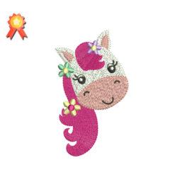pony embroidery design