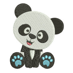 baby panda embroidery design