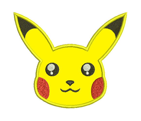 pikachu free embroidery design