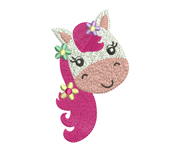 pony embroidery design