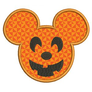 Mickey Mouse Halloween Applique Embroidery Design
