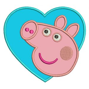Peppa Pig Applique Embroidery Design
