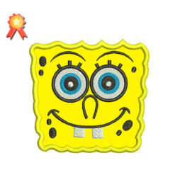 spongeBob applique embroidery design