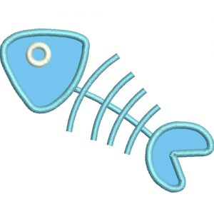 Free Fishbone Applique