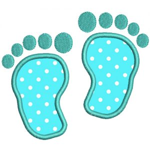 Babies Feet Applique Embroidery design