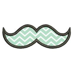 Moustache Applique Embroidery Design
