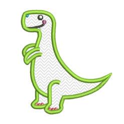 T-Rex applique embroidery design