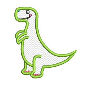 T-Rex applique embroidery design