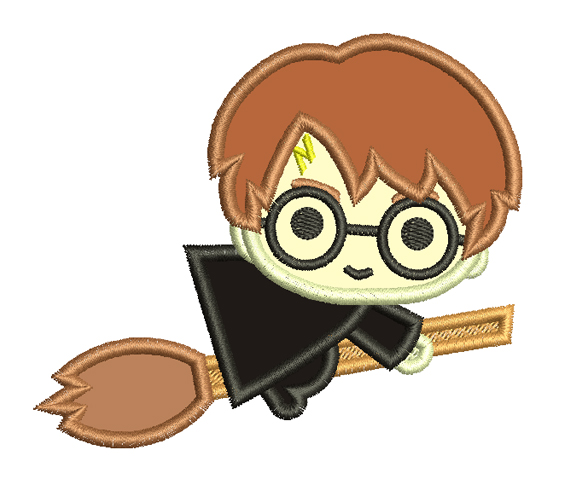Embroidery Design Mini Harry Potter Applique