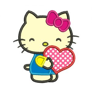 Hello Kitty Applique Embroidery Design
