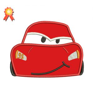 Cars Lightning McQueen Embroidery Design