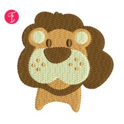 lion safari embroidery design